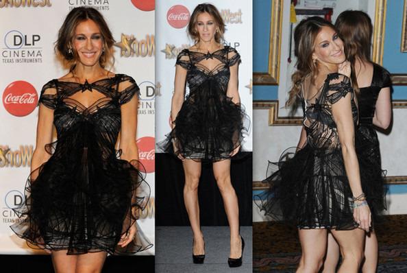 Сара джессика паркер черное платье
