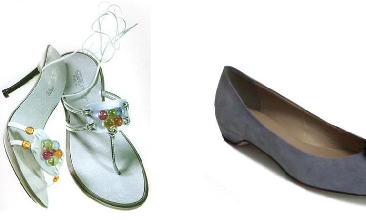 Элегантные но скромные - обладающие особенным очарованием темно-серые туфли на маленьком каблуке необычной формы от