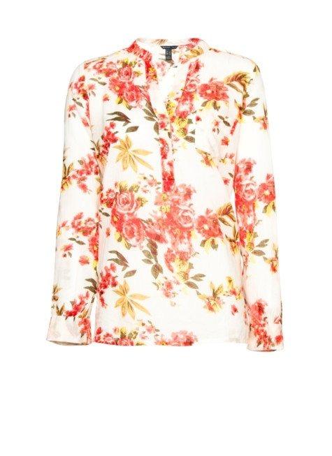 Розовые Блузки С Цветочным Принтом 2017