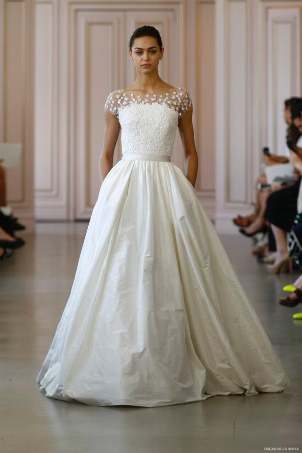 Свадебные платья жаккардовые