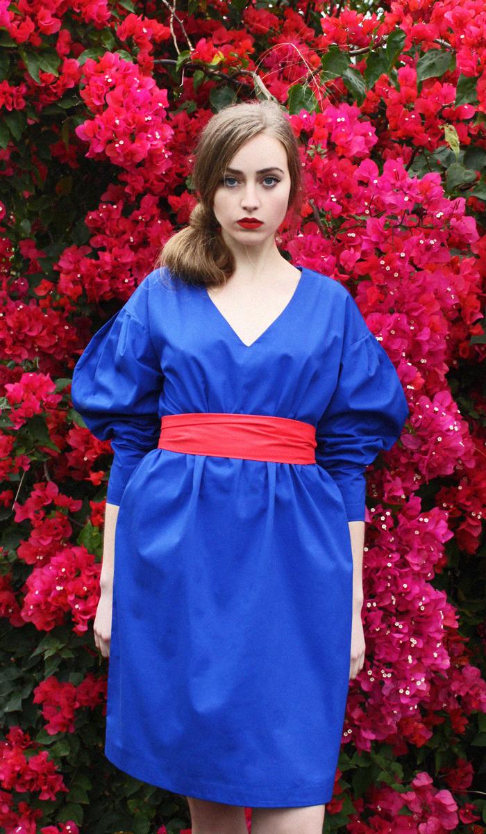 Султана французова красное платье
