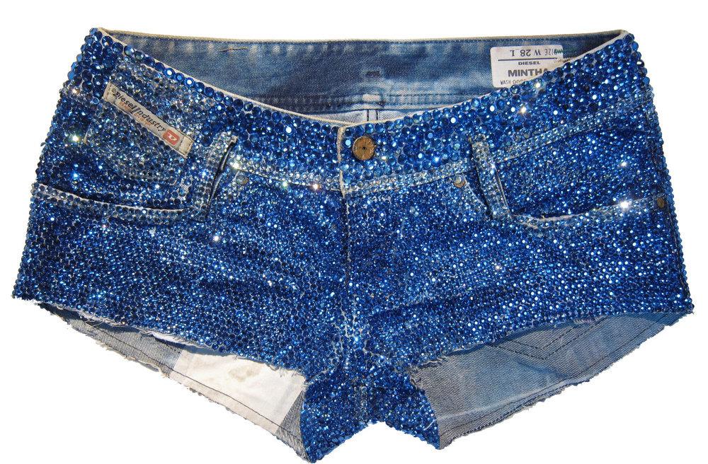 Украсить джинсы стразами фото