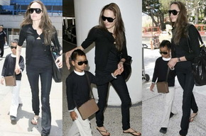 Анджелина Джоли в джинсах Work Custom