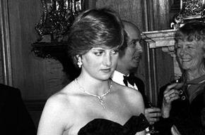 Принцесса Диана в платье от Элизабет Эмануэль
