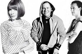 Anna Wintour, Peter Marino, Kim France.