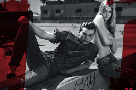 Лара Стоун в рекламных кампаниях брендов ck Calvin Klein и Calvin Klein Jeans