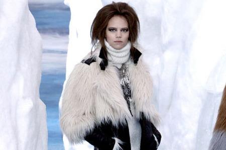 Глобальное похолодание на показе коллекции Chanel 2011