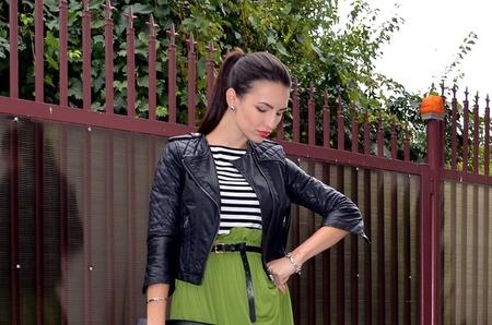 Как носить длинную юбку