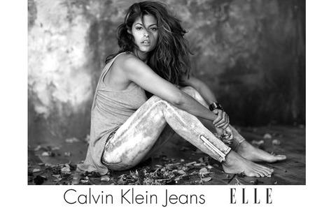 Ева Мендес, Calvin Klein Jeans, Elle: мы стали первыми