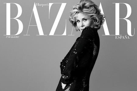 Джейн Фонда в каверстори Harper's Bazaar. Апрель, 2017