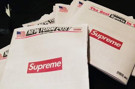New York Post с логотипом Supreme на обложке