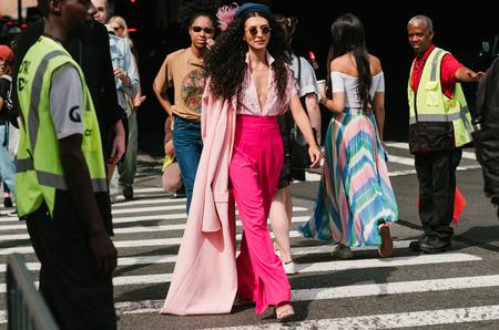 Гости Недели моды в Нью-Йорке. Весна, 2018