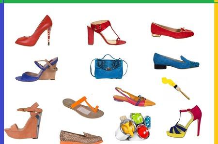 Яркие цветные обувные будни лета 2014