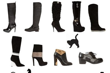 Черный цвет в осенне-зимних коллекциях итальянских дизайнеров
