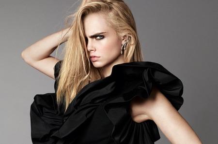 Кара Делевинь на обложке американского Elle. Сентябрь, 2016