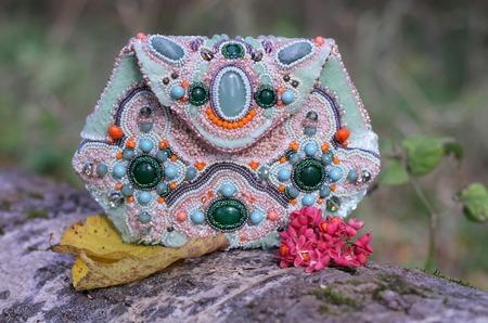 Сумочки расшитые бисером и камнями ручной работы