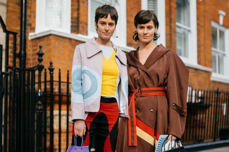 Стритстайл: Гости Недели моды в Лондоне. Осень, 2020