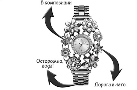Часы Guess Ladies Jewelry. Леди, для Вас лучшие цветы!