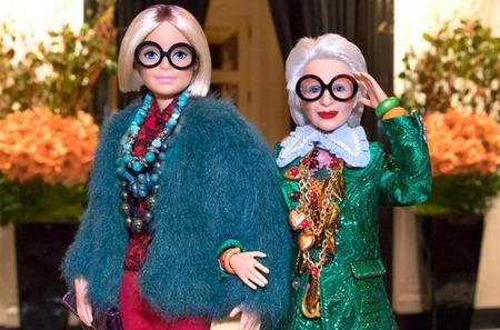 Барби в образе Айрис Апфель