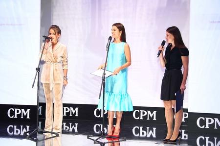 Юлия Барановская и Сати Казанова открыли 29-ю международную выставку моды CPM - Collection Première Moscow