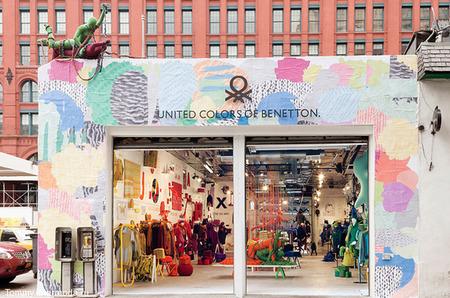 Benetton: ИСКУССТВО ТРИКОТАЖА. Новый магазин Benetton Pop-up store.