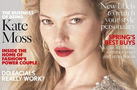 Кейт Мосс в 38 раз на обложке Vogue. Апрель, 2017