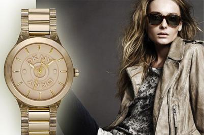 Прозрачные часы от DKNY