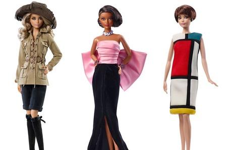Барби в архивных нарядах Saint Laurent