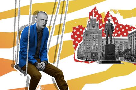 Гагарин в косухе, Булгаков в смокинге, Маяковский на качелях:  Экскурс–бюро №1 представляет новый фирменный стиль