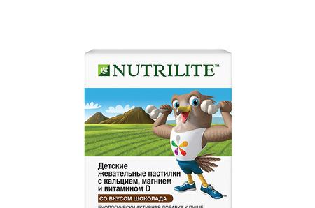 Детские жевательные пастилки NUTRILITE™ с кальцием, магнием и витамином D