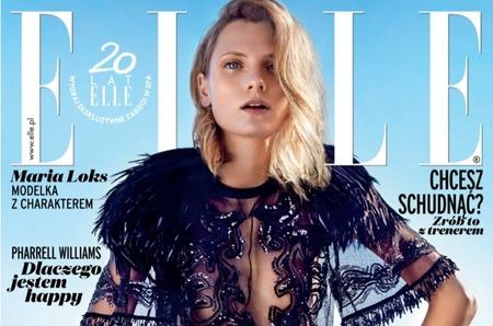 Мария Локс на закате лета в польском Elle август 2014