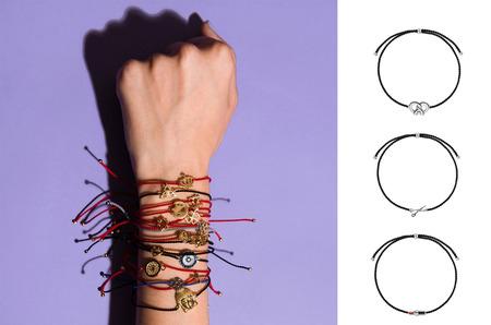 Wanna?Be! выпустили серию браслетов-нитей с символами профессий.