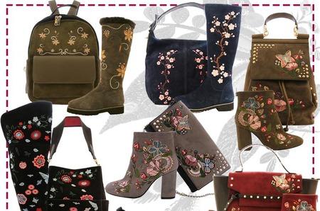 Тренд в обуви будущего сезона - вышивка и аппликация