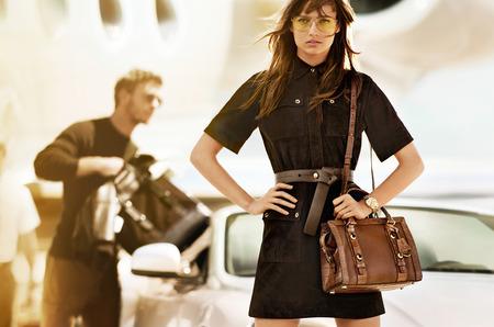 Наташа Поли в рекламной кампании Michael Kors. Осень-зима 2015-16
