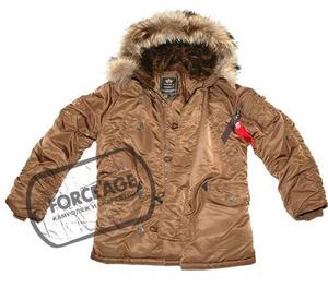 Куртка ''N-3B Parka'' Light Olive.  Парка из водоотталкивающего материала с утеплителем из полиэфирного волокна.