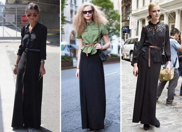 Советы к длинным юбкам