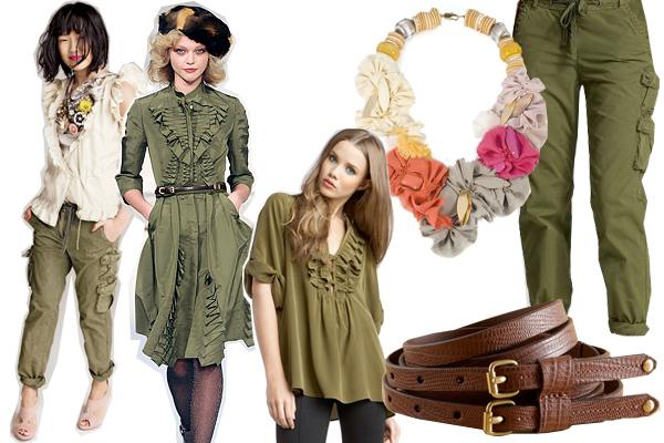 3 способа воплотить актуальный милитари-стиль в весеннем гардеробе.