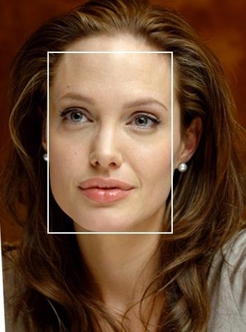 Прямоугольное лицо широкий лоб и