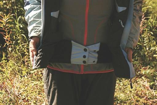 Снегозащитная юбка у куртки