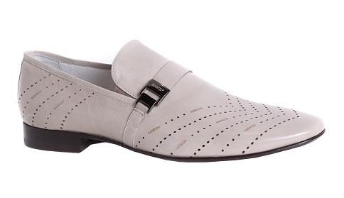 белые перфорированные ботинки монки от Maros