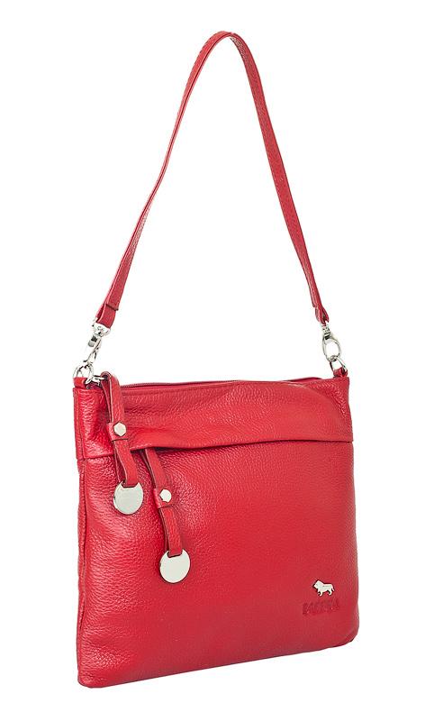 Женская сумка Labbra выполнена из натуральной кожи красного цвета с...