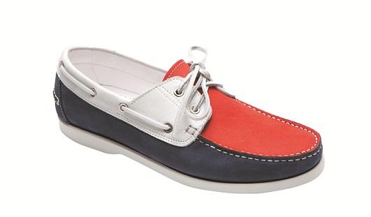 трехцветные ботинки топ-сайдеры от Dino Bigioni
