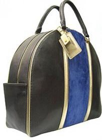 Черная сумка с синей вставкой DKNY.