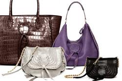 ...четыре модели сумок - от вечернего клатча до простой и практичной...