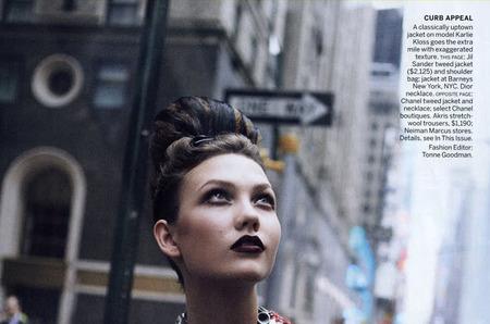 Ретро, Нью-Йорк, девушка: Карли Клосс для Vogue US