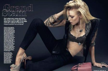 Джессика Стэм в сентябрьском номере американского Marie Claire